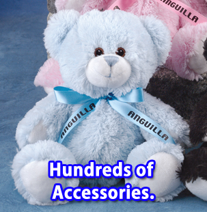 Tumbles Teddy Bear includes the printed t-shirt, ribbon or vest.