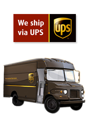 We ship using UPS ground service. Call today for a freight quote.